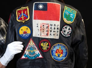 The bomber jacket worn by Tom Cruise as Maverick from 1986's Top Gun, estimated at £12,000-£16,000