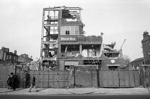 Slum clearance, Dalston, 1971