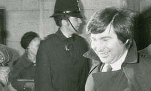 Michael Bogdanov leaving court in 1982. He described his time in the dock as a Kafkaesque nightmare.
