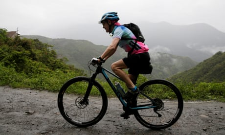 70-year-old female cyclist becomes oldest ever on Bolivia's 'Death Road' race