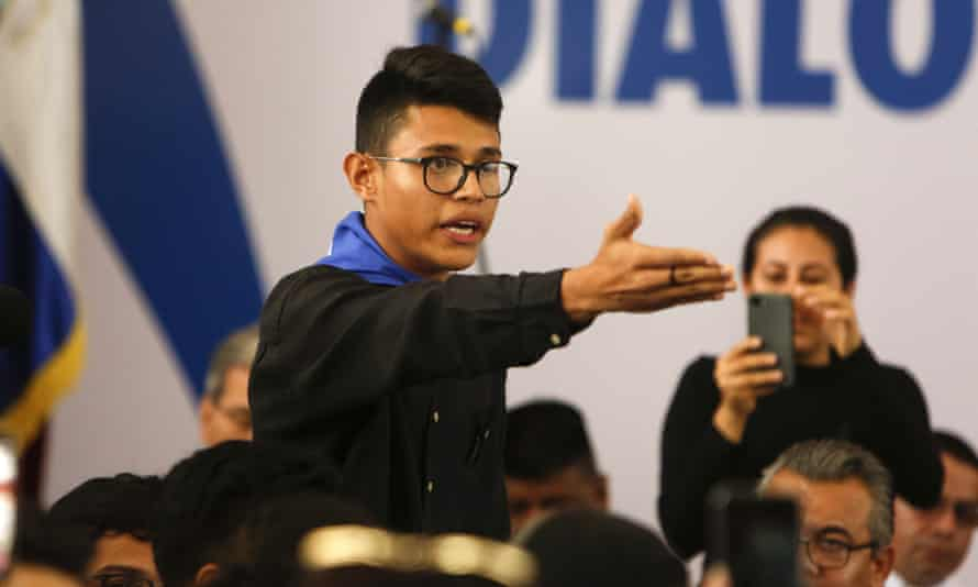 Lesther Alemán, a former student leader, was arrested Monday under Nicaragua's draconian treason laws.