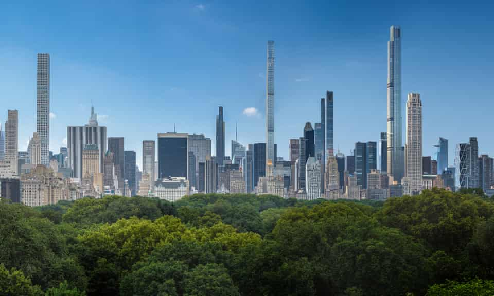 The proposed 2022 skyline overlooking Central Park.