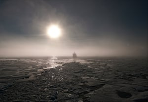 Anywhere out of the world (Exotica, Erotica, Etc)Under the midnight sun, a Russian nuclear icebreaker crosses Arctic waters on the Northern Sea route, a passage running along Siberia to the Bering Strait, open to traffic during the summer months