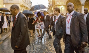The Obamas go on a walking tour of Old Havana