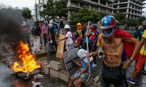 Protest against Venezuela's national constituent assembly