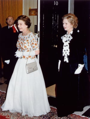With Margaret Thatcher in 1985