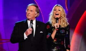Sir Terry Wogan presenting the BBC's Children in Need with Tess Daly in 2012.