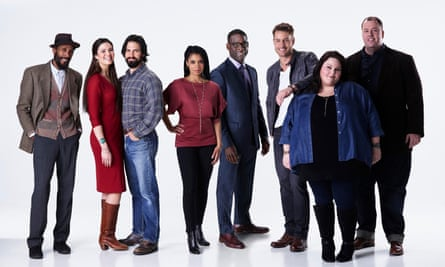 The cast of This Is Us (from left): Ron Cephas Jones; Mandy Moore; Milo Ventimiglia; Susan Kelechi Watson; Justin Hartley; Chrissy Metz and Chris Sullivan.