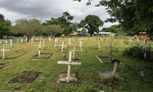 The cemetery at the old Yarrabah Mission.