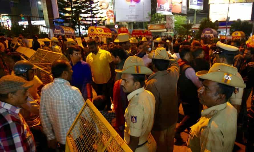 Police in Bangalore during nye