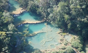 Semuc Champey Natural Monument in Guatemala. Years of dispute led to violent conflict between security forces and local communities earlier this year.