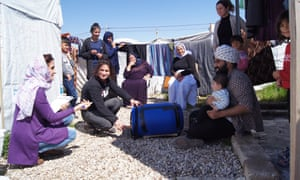 A prototype washing machine is trialled in Iraq
