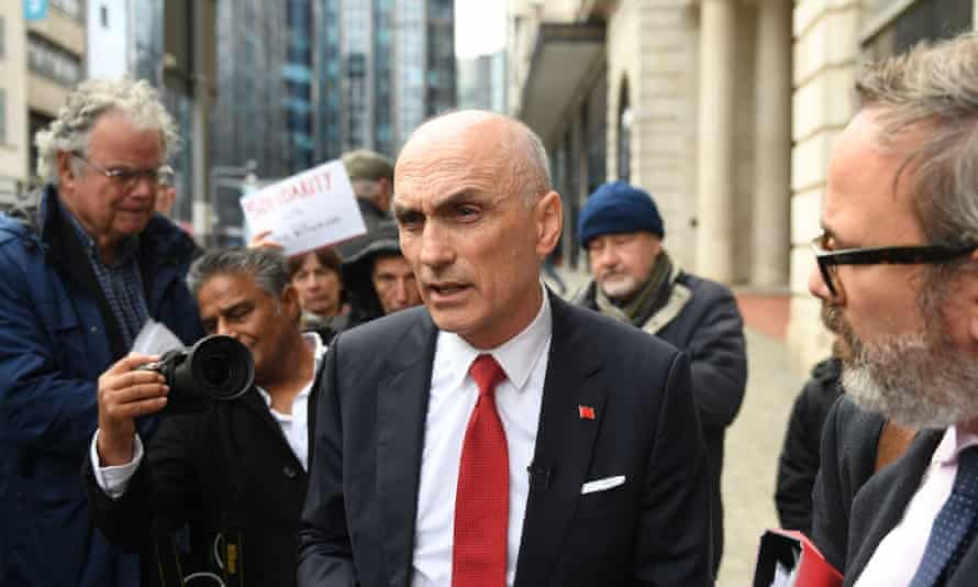 Chris Williamson outside the Birmingham Civil Justice centre where he lost his high court bid to be reinstated to the Labour party.