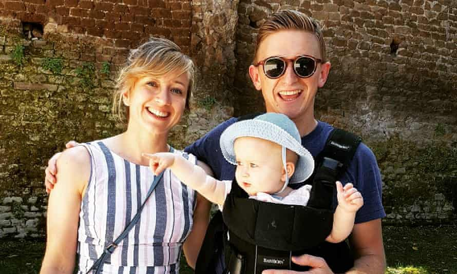Toan Ravenscroft with his wife, Rhian, and baby, Seren.
