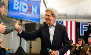 John Kerry out on the campaign trail for Joe Biden and Kamala Harris earlier in the election cycle.