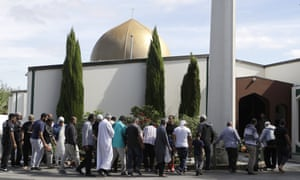 Worshippers return to Al Noor mosque in Christchurch, New Zealand, following the mass shooting.