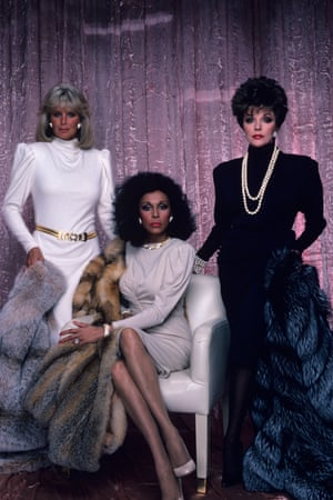 (Krystle (Linda Evans), Dominique (Diahann Carroll) and Alexis (Joan Collins) in Dynasty