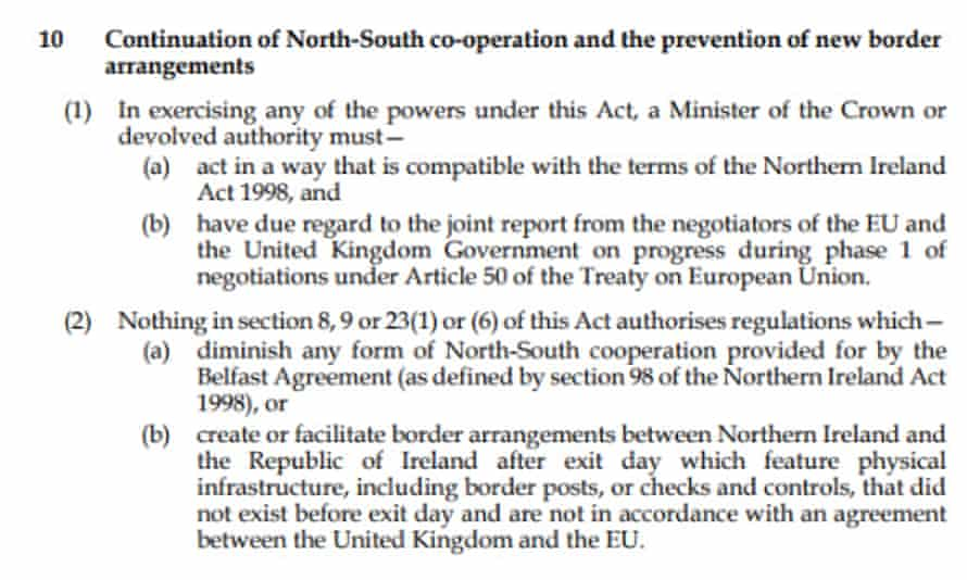 Britain's Brexit Act passed by the government includes a ban on the very customs checks proposed by Johnson, says Lord Hain