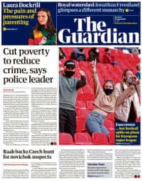 Guardian front page, Monday 19 April 2021