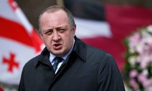 Georgia's president Margvelashvili has condemned the 'dark forces' behind the videos.