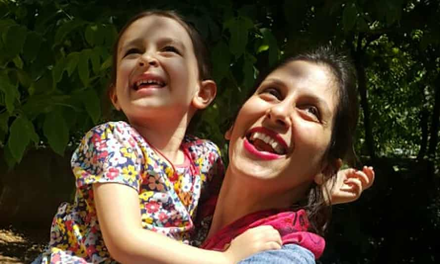 Nazanin Zaghari-Ratcliffe with her daughter Gabriella in Damavand, Iran, following her temporary release from prison