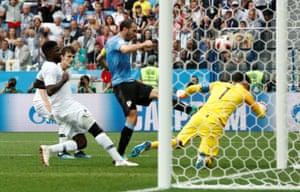 Uruguay blaze over following Lloris's save.