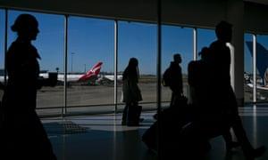 Passengers at Sydney airport