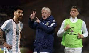 Lionel Messi, Gordon Strachan and Ross Barkley