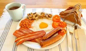 Full English vegan breakfast, Vegotel, Blije, Netherlands