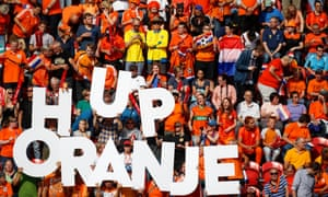 Netherlands fans cheer on their team at Euro 2017.