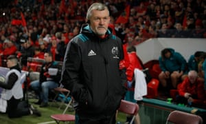 Niall O'Donovan, the Munster team manager, at the European Champions Cup match against Exeter at Thomond Park.