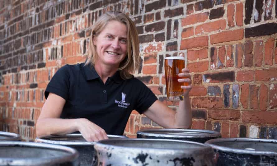 Belinda Jennings at Woodforde's Brewery