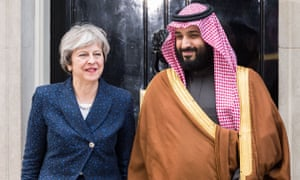 Theresa May with Mohammed bin Salman outside 10 Downing Street