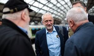 Labour leader Jeremy Corbyn in Liverpool