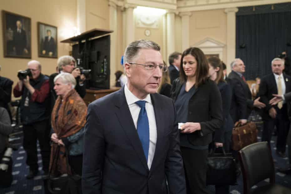 Former special envoy to Ukraine, Kurt Volker, exits following his testimony.