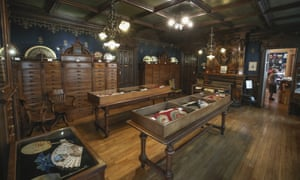 """The nineteenth century """"Belle Epoque"""" hall of the fan hand-making museum is pictured in Paris on Wednesday."""