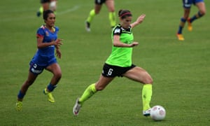"""Canberra United veteran Caitlin Munoz jokes that she has had """"three-and-a-half knee reconstructions"""" since 1998."""