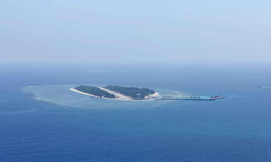 A view of Itu Aba, which the Taiwanese call Taiping, a disputed island in the South China Sea.