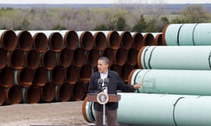 Trudeau has previously said he was 'disappointed' in Obama's decision to reject the plans for TransCanada's Keystone XL pipeline.