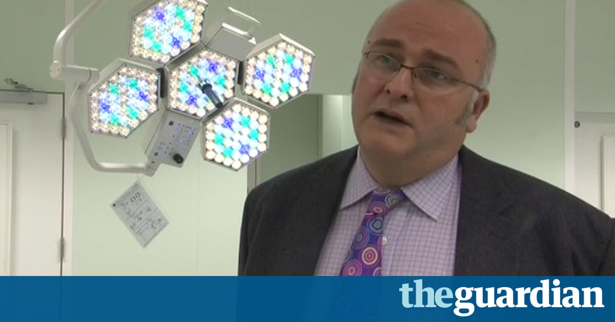 Surgeon who burned initials into livers of two patients fined £10,000