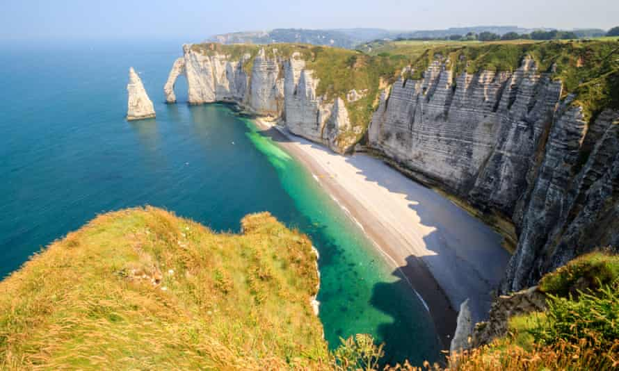 The cliffs of the Alabaster coast, Normandy, France.