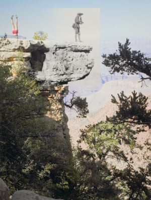 Woman on Head and Photographer with Camera; Unknown Dancer and Alvin Langdon Coburn at Grand View Point, 2009