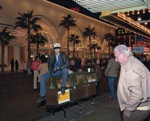 Man Looking at Man, Fremont St, Las Vegas, 1988