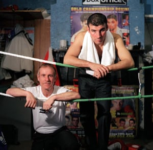 Enzo, left, and Joe Calzaghe, 2002.