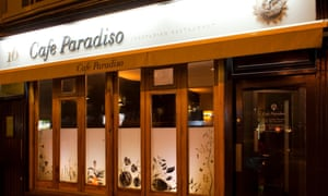 Cafe Paradiso restaurant, it also does rooms. Cork, Ireland