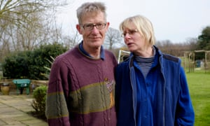 Retired dentist Andrew Cracknell, 64, (left) and his wife Judi Cracknell, who live close to the proposed site of a tall transmitter tower, in Richborough, Kent