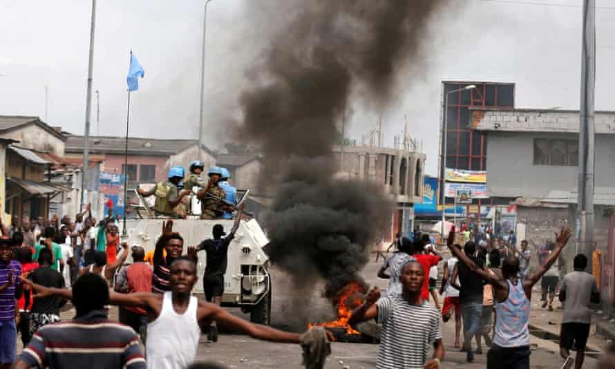 Demonstration in Kinshasa