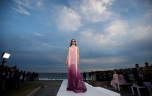 A model on the catwalk for the Jonathan Simkhai show