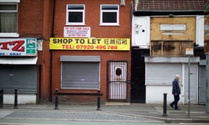 Abandoned shops in north Manchester.