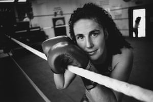 WIBF light welterweight world title holder Jane Couch, pictured in July 1998.